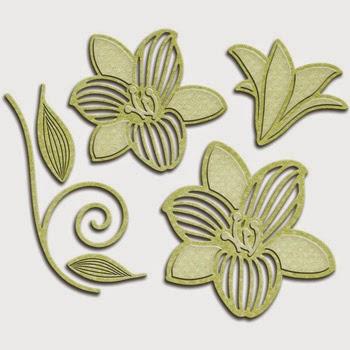 Spellbinders Shapeabilities Victorian Garden Romantic Blooms 3 SBS4-534
