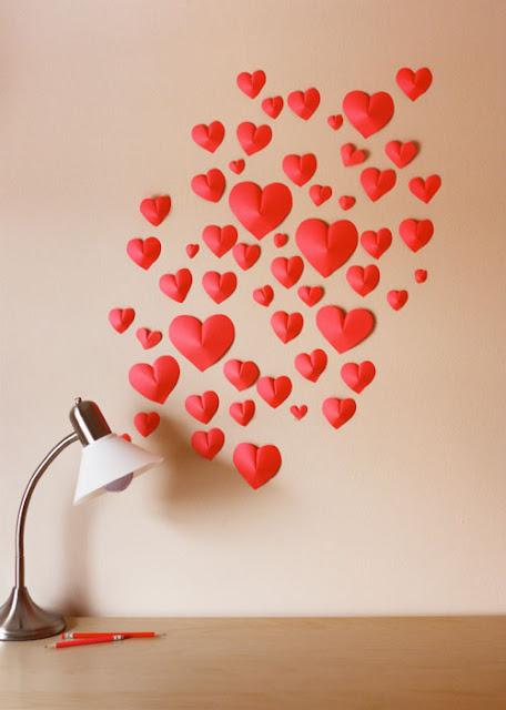 DIY pared de corazones San Valentín