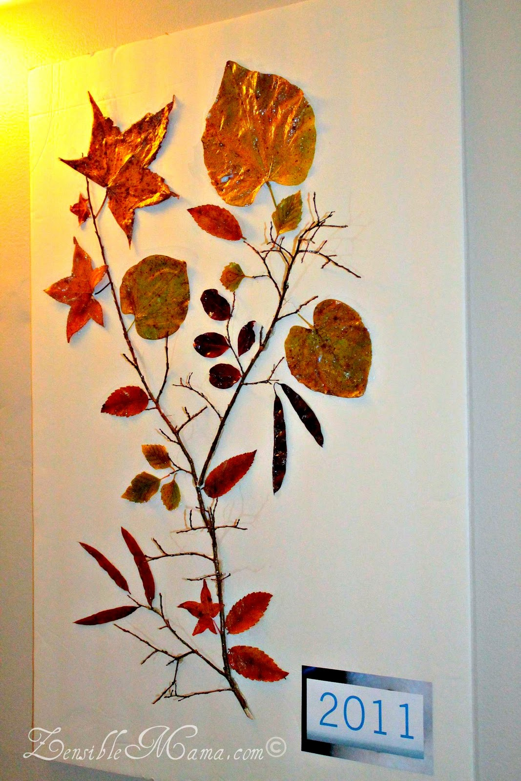 Zensible mama diy fall leaf and tree branch 3d wall art for 3d wall art