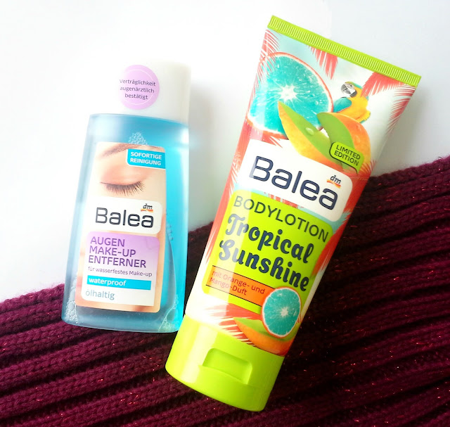 balea augen makeupentferner, bodylotion, tropical sunshine