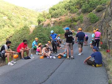 El final del recorrido de orientación nos llevó hasta las vías de escalada.