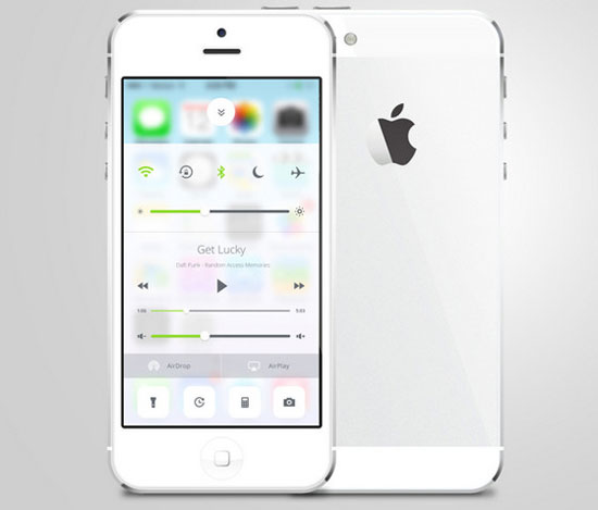 iOS 7 Control Center Redesign by Sam Nissinen