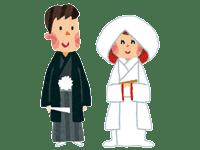 新郎新婦・神前式 | ジューンブライド結婚式のイラスト・画像素材