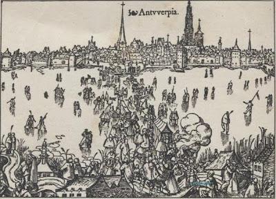 Ijskermis op de Schelde tijdens de winter van 1564-1565