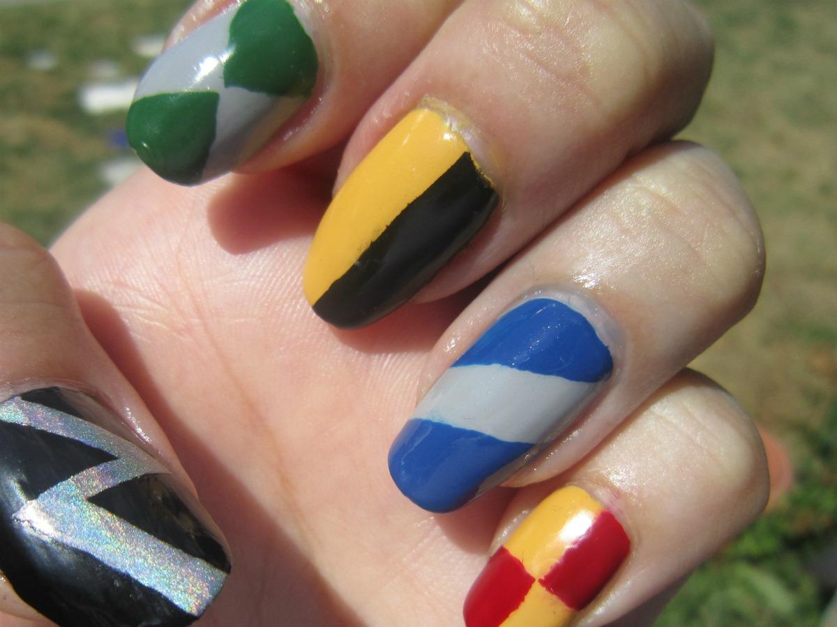 Concrete And Nail Polish Harry Potter Nails