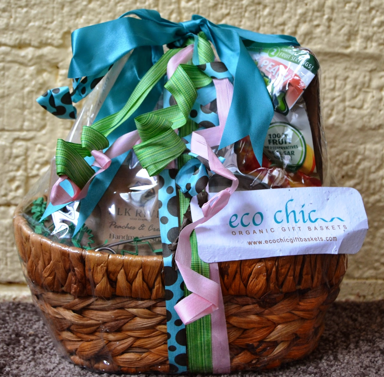 Eco Chic Just Peachy Gift Basket