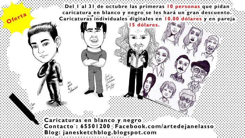Caricaturas en promoción por el mes de octubre