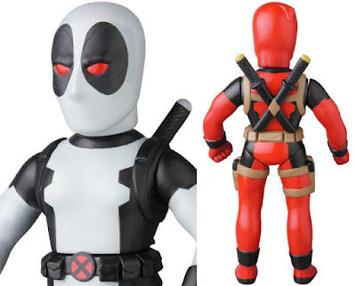 Marvel Retro Sofubi Collection Wave 5 Vinyl Figures by Medicom - Deadpool & X-Force Deadpool