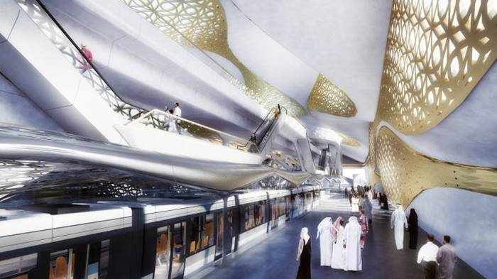 World renowned architect Zaha Hadid has just won a competition to design the new metro station for Saudia Arabia's capital city Riyadh. The city's population has doubled since 1990 and is now home to more than 5 million people. Due to this large influx of citizens, the city has now started planning a brand new metro system to better aid them in their day to day life.