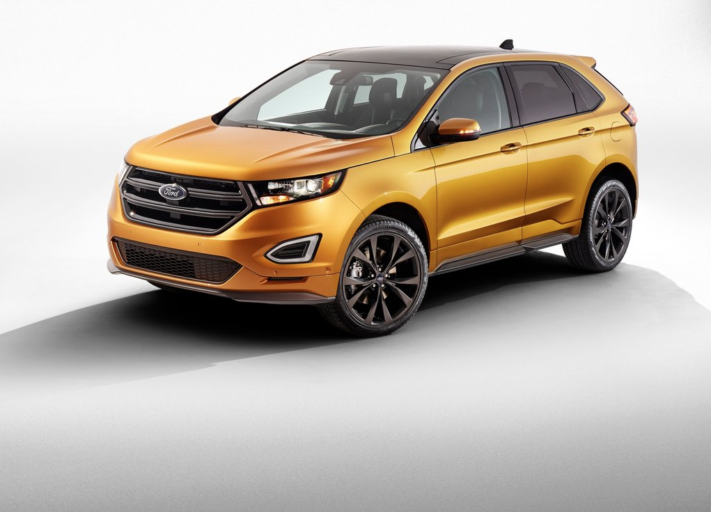 2015 Ford Edge yellow