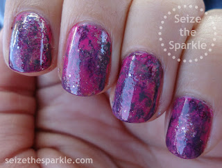 Pink & Purple Seriotype Manicure