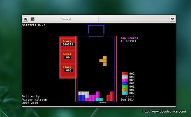 Vitetris | Tetris en el terminal para GNU/Linux