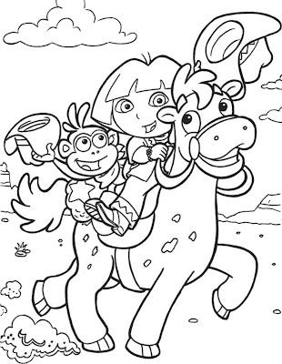 Desenho da Dora a Aventureira para colorir