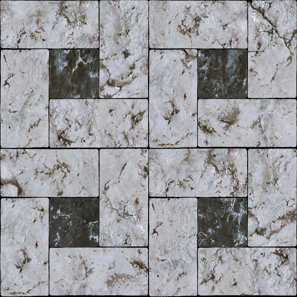 High Resolution Seamless Textures Marble tile light dark