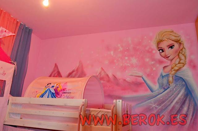 graffiti Frozen habitación niña