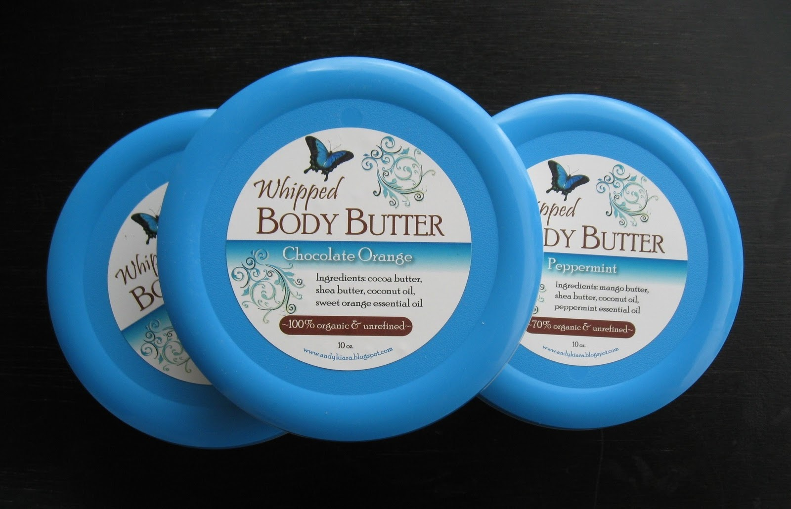 Andy kiara family organic body butter for Body butter labels