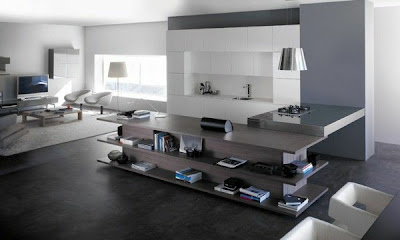 cocina integrada en la sala