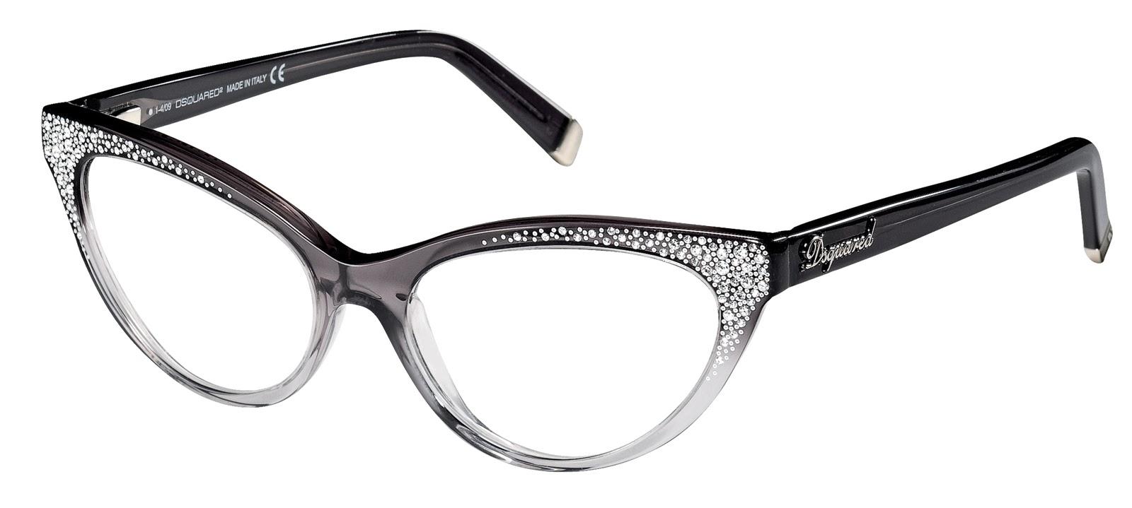 060538d5faf5c O modelo é um óculos gatinho degradê da marca Dsquared2 com cristais  Swarovski. Peça este óculos através do e-mail  loja oculoseoculos.com.br.