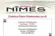 Manolo Vanegas, anunciado en Nimes, el 16/09.