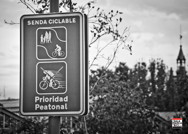 señalización ciclista carril bici senda ciclable