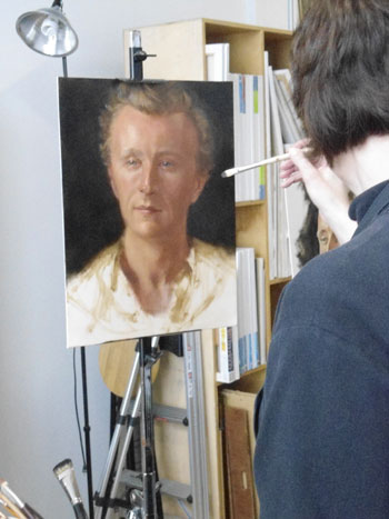 suzanne beck paints actor paul cram