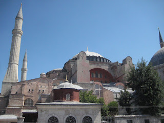 The exterior of the Haghia Sophia.