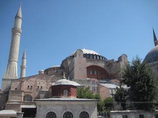 The exterior of the Haghia Sophia.
