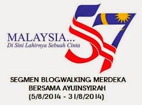 segmen : blogwalking MERDEKA bersama ayuinsyirah