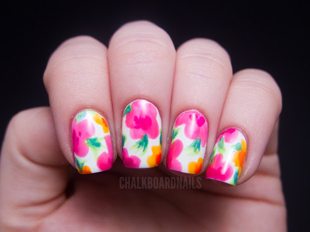china glaze summer neons nail art
