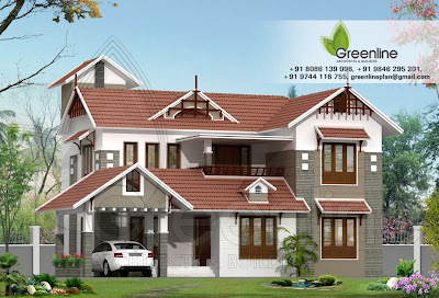 Modern Design Home Plans on Modern Stylish Kerala Home Elevation Of 2180 Sq Ft House