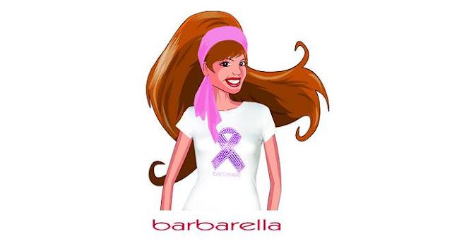 Barbarella-Pink-ribbon-tienda online-camiseta-solidaria-pulsera-Terelu Campos-AECC-Cancer-de-mama-lazo-rosa