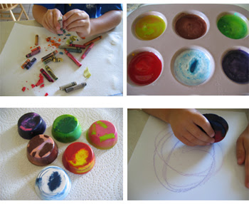 kids craft ideas: Recycled Chunky Crayons