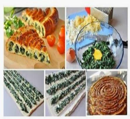 torta salata arrotolata con ricotta e spinaci (clicca e condividi)