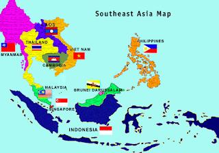 Iklim, Bentang Alam dan Letak Geografis ASIA Tenggara