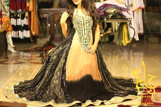 Zahra Ahmad Stylish New 2013-14 Winter Party Wear Dresses Collection For Women & Girls