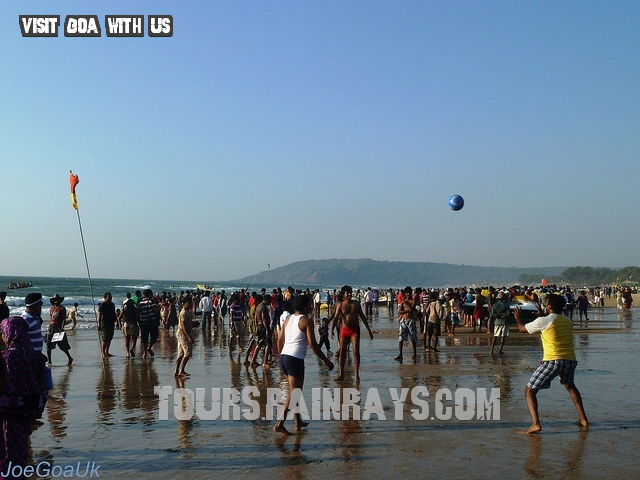 Calangute Beach Tourist Goa India. Tour Packages in India, Book Vacation Packages online