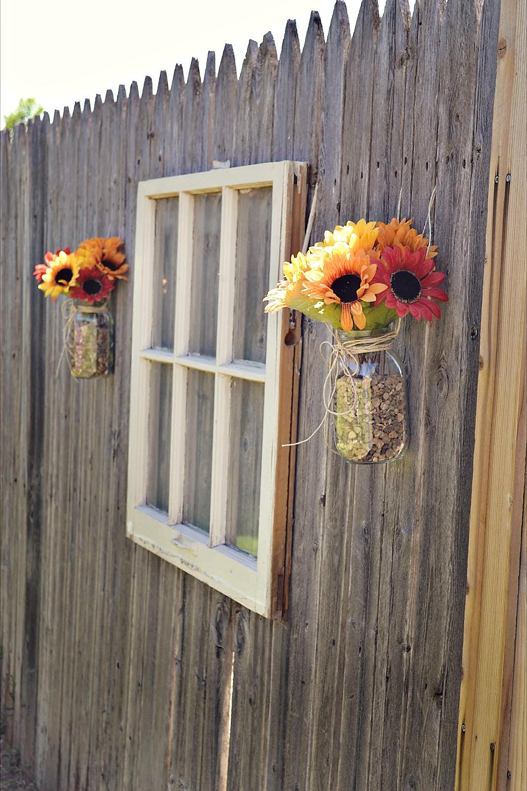Как украсить забор на даче своими руками фото
