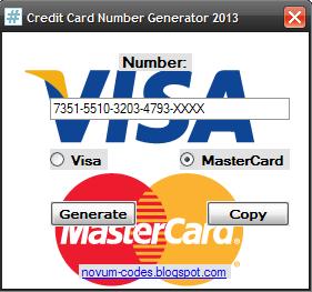 Visa Credit Card Numbers That Work 2013