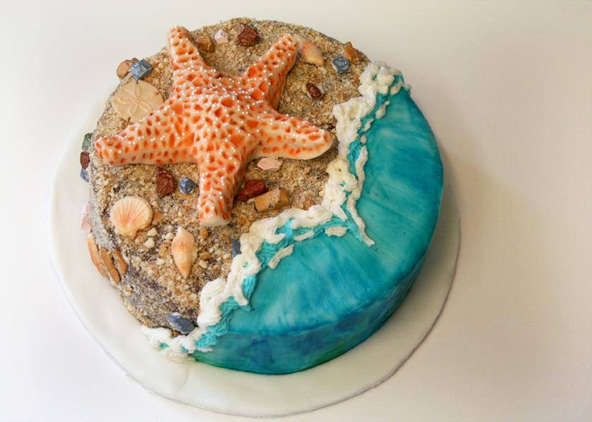 Melissa Adams Art: Starfish Cake and Henna Cake for the ...