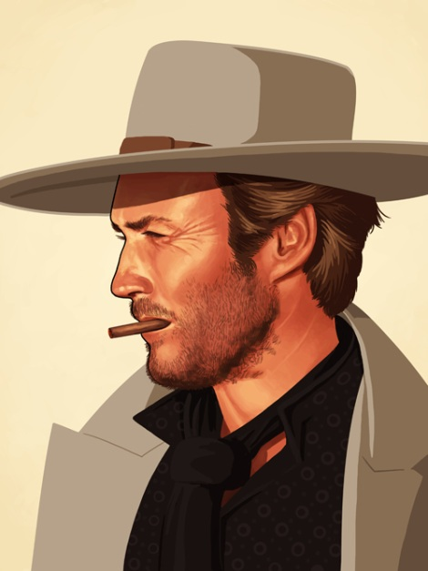Clint Eastwood by Mike Mitchell