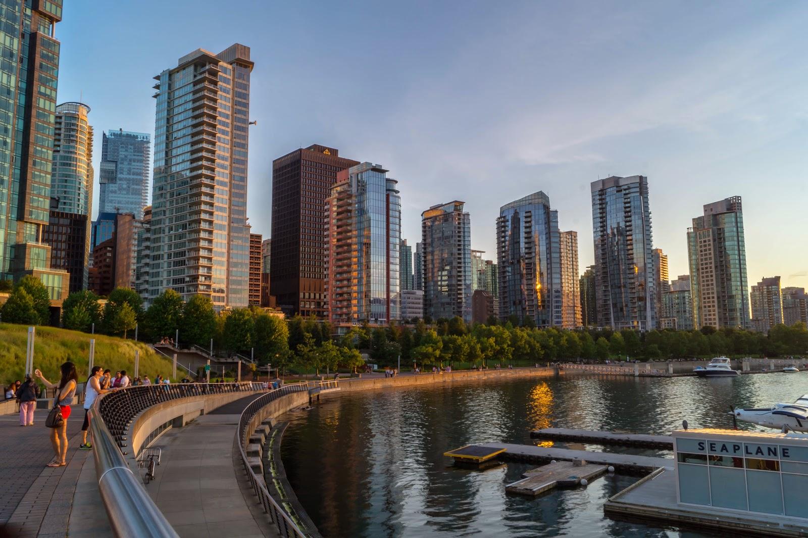 панорамный вид на Даунтаун Ванкувера