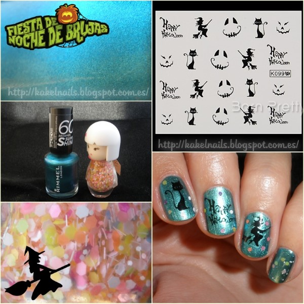 Brujas y gatos  nail art