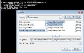 html to pdf converter local files selection