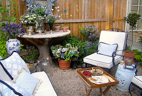 Bricolage e decora o 12 ideias para decorar um quintal for Garden ideas for very small spaces