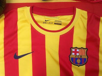 Away Kit of FC Barcelona in 2013