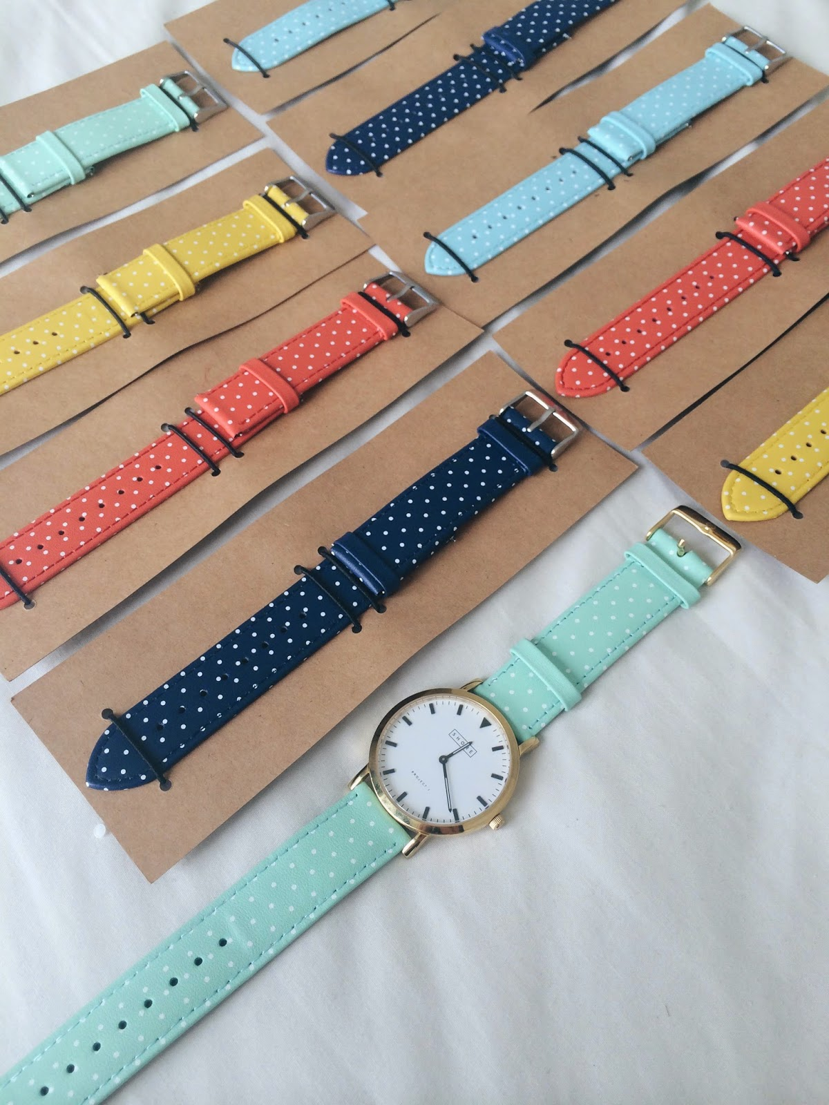 shore projects watches polka dot summer collection straps accessories british design