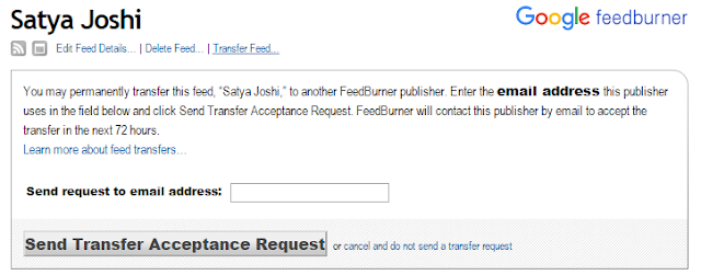 How to Transfer Your Feedburner Feeds from One account to Another