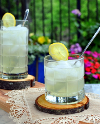 Old-Fashioned Homemade Lemonade. It's extra lemony! (How? The zest infuses flavor into the sugar!) Recipe, tips, nutrition & Weight Watchers points @ KitchenParade.com.