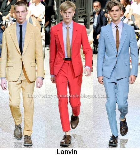цветове за мъжки костюми пролет-лято 2012