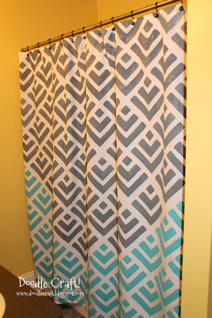 Doodlecraft Stencil A Shower Curtain With Cutting Edge Stencils And A Give Away